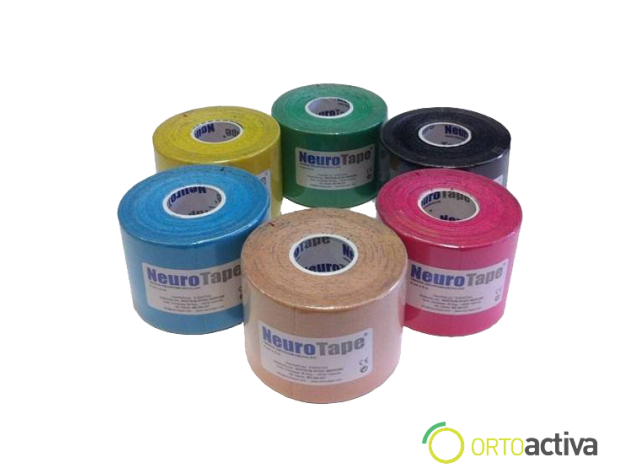 VENDAJE KINESIOLOGY NEUROTAPE AMARILLO 5 x 5 1059
