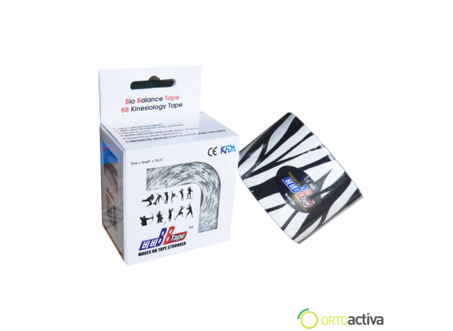 VENDAJE KINESIOLOGY BB TAPE CEBRA 5 x 5 1008