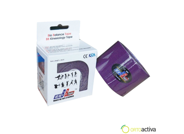 VENDAJE KINESIOLOGY BB TAPE MORADO 5 x 5 1008
