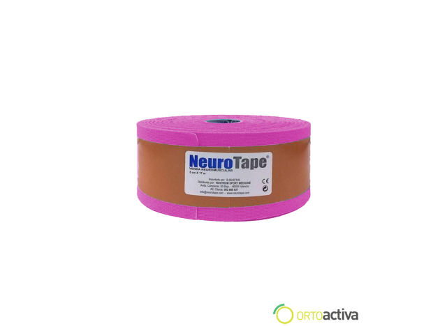 VENDAJE KINESIOLOGY NEUROTAPE ROSA 5 x 17 mt