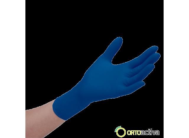GUANTE NITRILO SENSIFLEX DEEP BLUE SIN POLVO T/M (100 unid.)