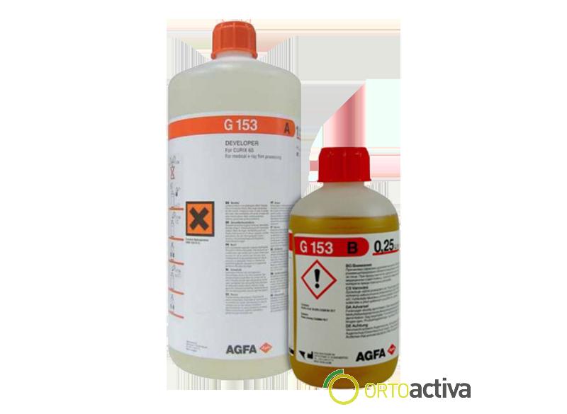 LIQUIDO REVELADOR AUTOMATICO AGFA CURIX 60 G-153 (12 de 250 ml. B+12 de 1L.A)