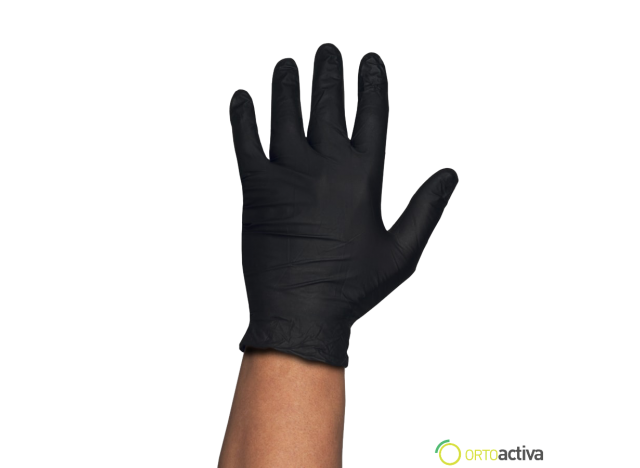GUANTE NITRILO NEGRO GENTLE TOUCH SIN POLVO T/G (100 unid.)