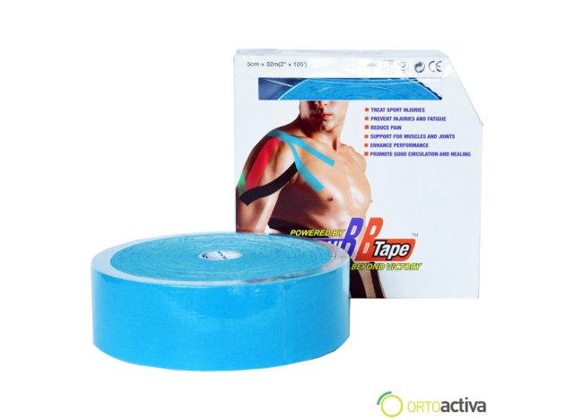 VENDAJE KINESIOLOGY BB TAPE AZUL 2,5 x 5 m.