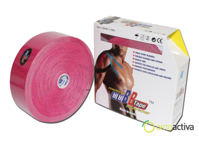 VENDAJE KINESIOLOGY BB TAPE ROSA 5 x 32 m 1008
