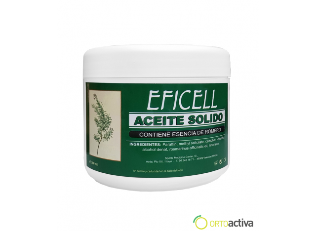 "ACEITE SOLIDO ROMERO ""EFICELL""  500 ml."