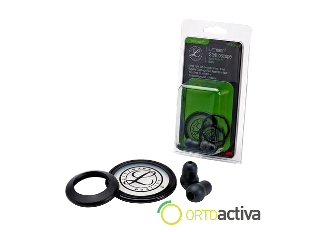 KIT RESPUESTOS LITTMANN CLASSIC II PEDIATRICO NEGRO/GRIS