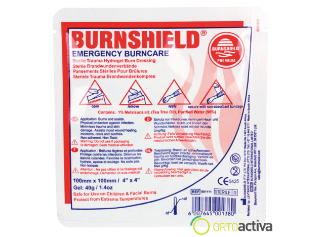 "COMPRESA PARA QUEMADURAS ""BURNSHIELD"" 100 x 100"