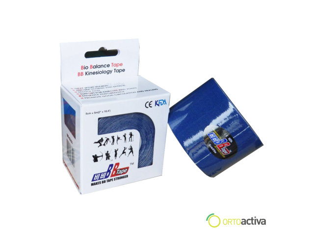 VENDAJE KINESIOLOGY BB TAPE AZUL MARINO 5 x 5