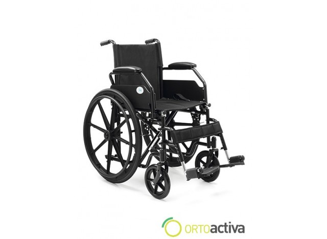 SILLA DE RUEDAS  RUEDA 600 COLOR NEGRO PC-211A