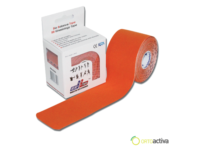 VENDAJE KINESIOLOGY BB TAPE NARANJA 5 x 5