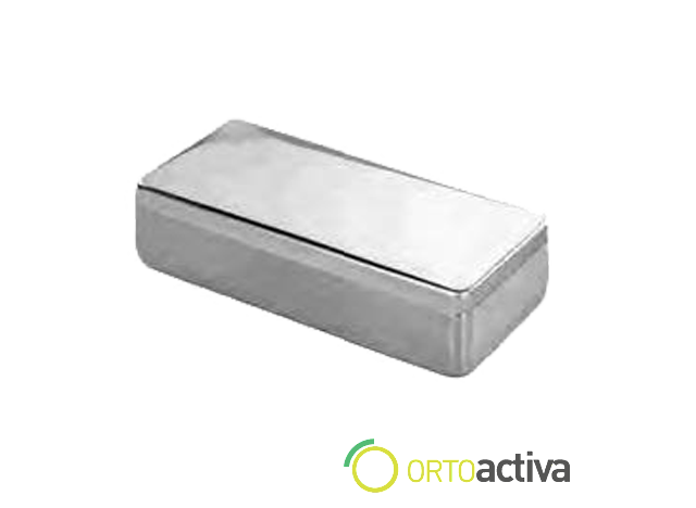 CAJA INSTRUMENTAL ACERO INOX 16,5 x 8,5 x 3,5