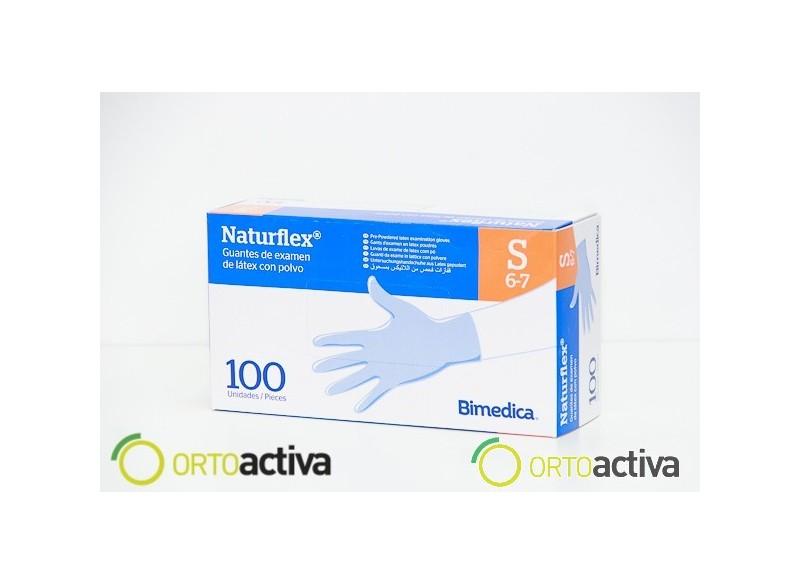 GUANTE LATEX NATURFLEX SIN POLVO T/EP (100 unid.) REF.121300