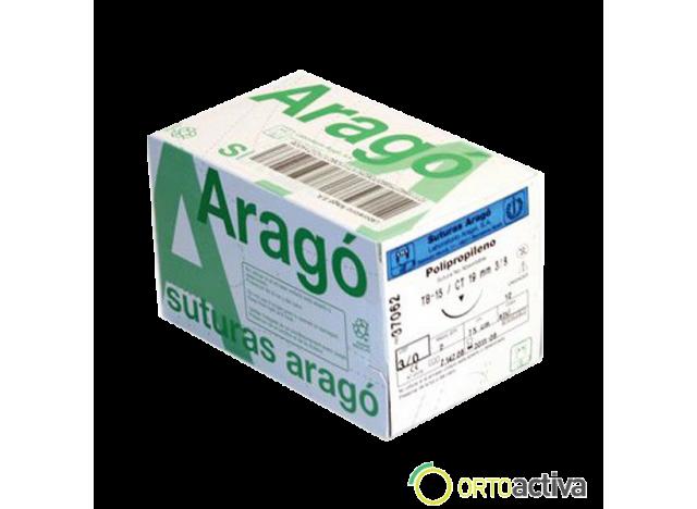 SUTURA POLIPROPILENO ARAGO 3/0 TB-12 REF. 37059